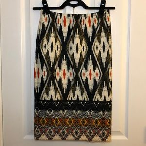 EUC - Chelsea and Theodore Printed Skirt - Size S